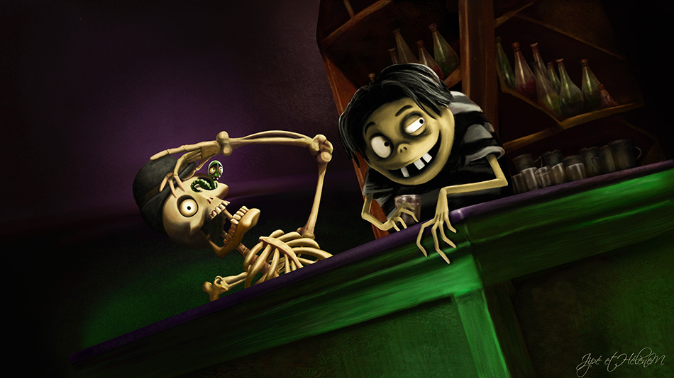 Skeleton, le Ver et Edgar