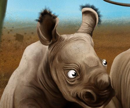 Les rhinos c'est de la poésie à l'état brut