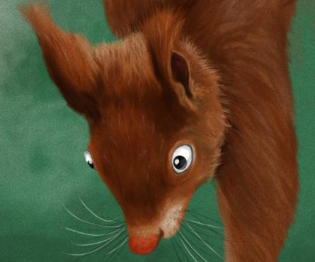 Écureuil affamé ...